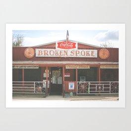 Broken Spoke Austin Texas Art Print
