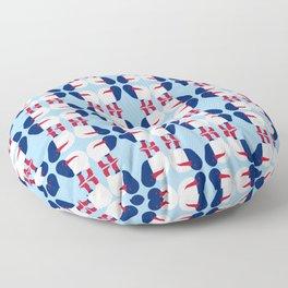 Kiwi bird - New Zealand national symbol, flag colors Floor Pillow