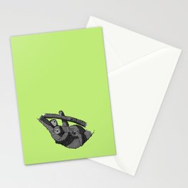 Newspaper Sloths Stationery Cards