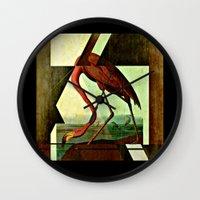 Flamingo Duet 1 Wall Clock
