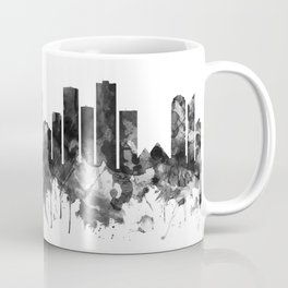 Edmonton Canada Skyline BW Coffee Mug