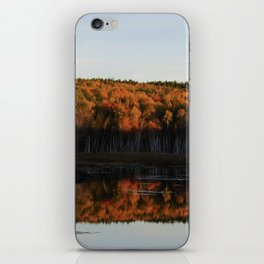 Autumn Sunset Reflection at the Moosehorn iPhone Skin