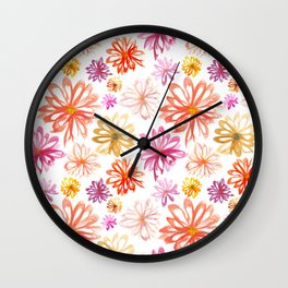 Painted Floral I Wall Clock