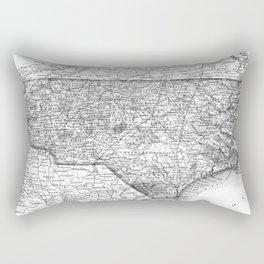 Vintage Map of North Carolina (1859) BW Rectangular Pillow