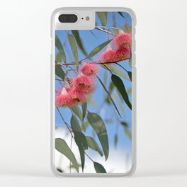 Eucalyptus Silver Princess Blossoms III Clear iPhone Case