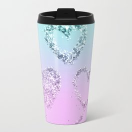 Mermaid LOVE Glitter Hearts #1 #shiny #decor #art #society6 Travel Mug