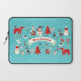 Christmas icons illustration Laptop Sleeve