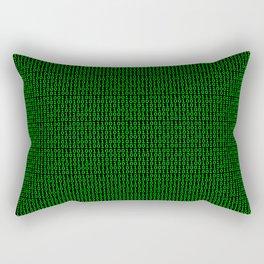 Binary Green Rectangular Pillow