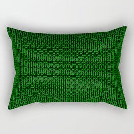 Binary Green Rectangular Pillow