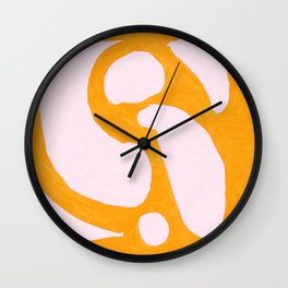 Abstract in Yellow and Cream Wall Clock