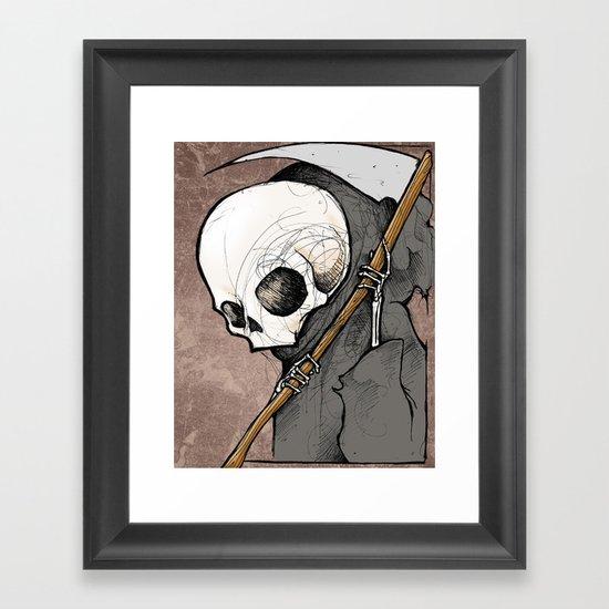 Death scribble Framed Art Print