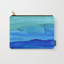 Alcohol Ink Seascape Carry-All Pouch