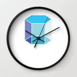 Isometric Form 2d Hexagonal Prism Geometric Shape Geometry Math Teacher Wall Clock