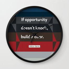 Milton Berle quote Wall Clock