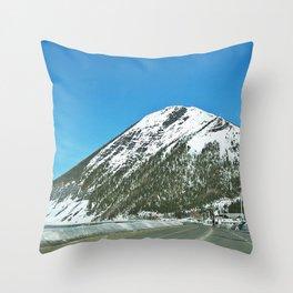 Mont-Saint-Pierre in Winter Throw Pillow