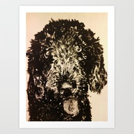 Stella the Poodle Art Print