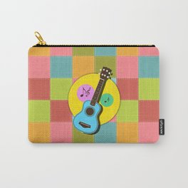 Fun colorful Ukuele and music notes Carry-All Pouch