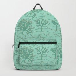 Joshua Tree Landscape in Sage Green Backpack