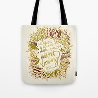 fitzgerald Tote Bags featuring Zelda Fitzgerald – Fall Palette by Cat Coquillette
