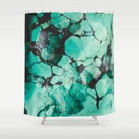 turquoise Shower Curtains featuring Turquoise  by Laura Ruth