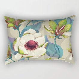 magnolia bloom - vivid version Rectangular Pillow