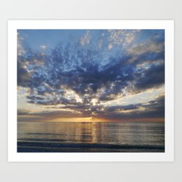 Sunset Over Clearwater Beach Art Print