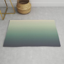 color gradient   blue ,green, grey - autumn colors Rug
