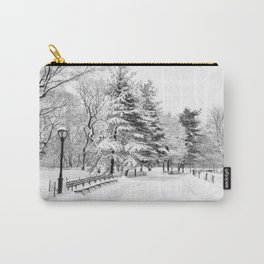 New York City Winter Trees in Snow Carry-All Pouch