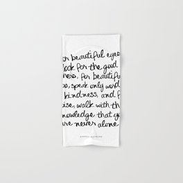 Famous Quotes Hand Bath Towels Society6