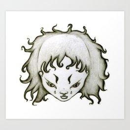 Lion Girl Art Print