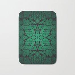 Green cracked wall Bath Mat