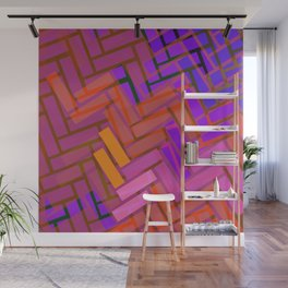 Pop Colored Blanks Wall Mural
