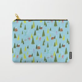 Ski Lodge Pattern Carry-All Pouch