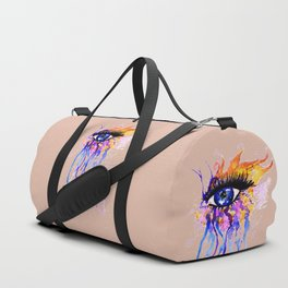 Flamy Watercolor Eye Duffle Bag