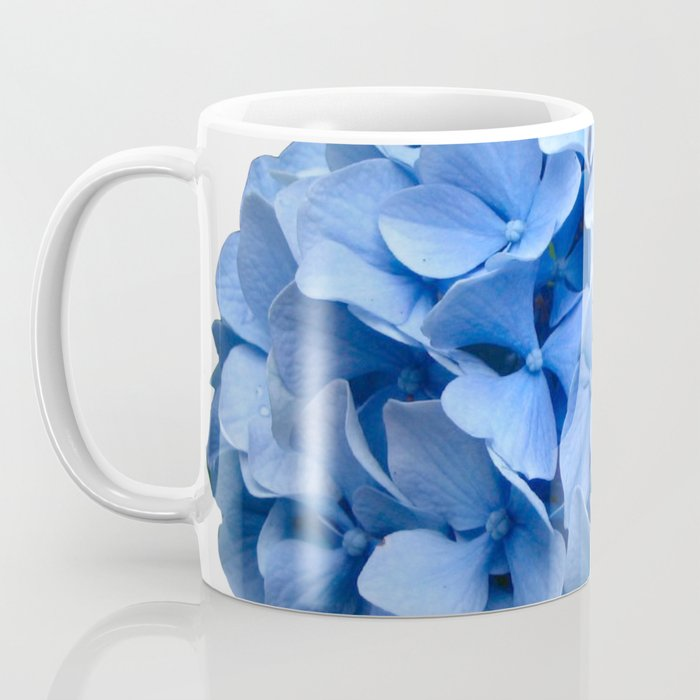 Nantucket Blue Hydrangea Flower Coffee Mug