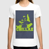 lime green T-shirts featuring chillax lime green grunge panda by Moonlake Designs