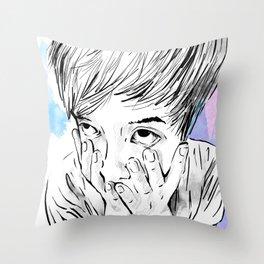 facemelt Throw Pillow
