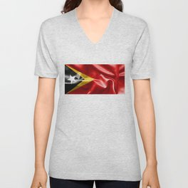 East Timor Flag Unisex V-Neck