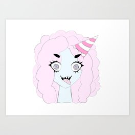 Cotton Candy Monster Art Print