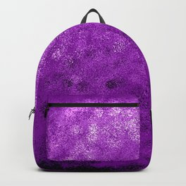 Purple Spray Paint Abstract Backpack