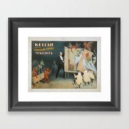 Vintage poster - Kellar the Magician Framed Art Print