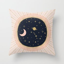 Love in Space Throw Pillow