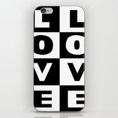 Love Black iPhone & iPod Skin
