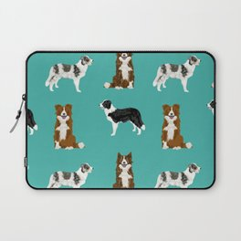 Border Collie mixed coats dog breed pattern gifts collies dog lover Laptop Sleeve