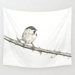 Milk-Warm Mewling of Chickadees Wall Tapestry