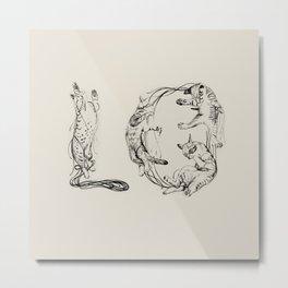 Lo- Meaw Metal Print