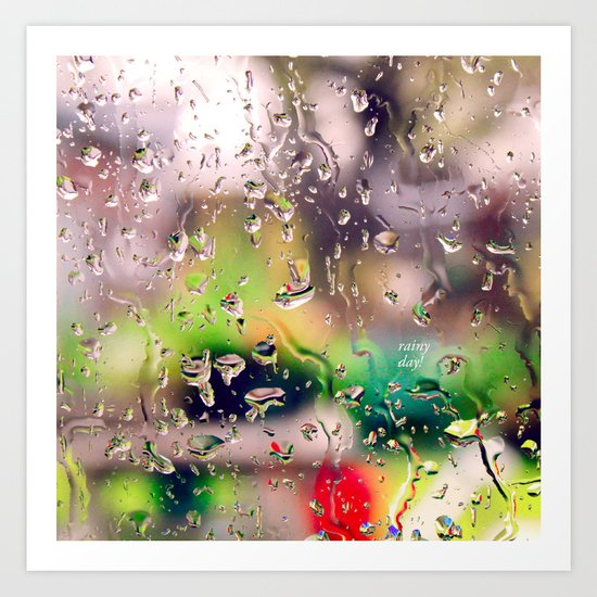 Rainy day! Art Print