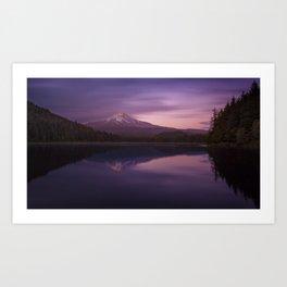 Twilight at Trillium Lake Art Print