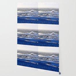 Wind Blown Stormy Seas Wallpaper