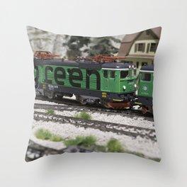 Green Cargo Throw Pillow